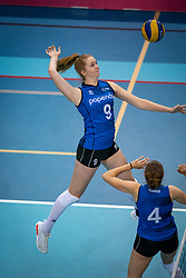 Britte Stuut of Team22 in action during the league match Draisma Dynamo vs. Team22 on october 10, 2021 in Omnisport Apeldoorn, Apeldoorn