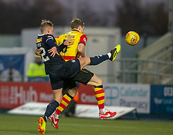Falkirk's Joe McKee scoring their goal. Falkirk 1 v 1 Partick Thistle, Scottish Championship game played 17/11/2018 at The Falkirk Stadium.