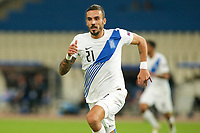 ATHENS, GREECE - OCTOBER 11: Dimitris Kourbelisof Greece during the UEFA Nations League group stage match between Greece and Moldova at OACA Spyros Louis on October 11, 2020 in Athens, Greece. (Photo by MB Media)