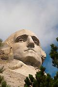View of Mount Rushmore National Memorial, South Dakota, USA; August, 2011
