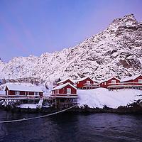 Village of Å I Lofoten, Moskenesøy, Lofoten islands, Norway