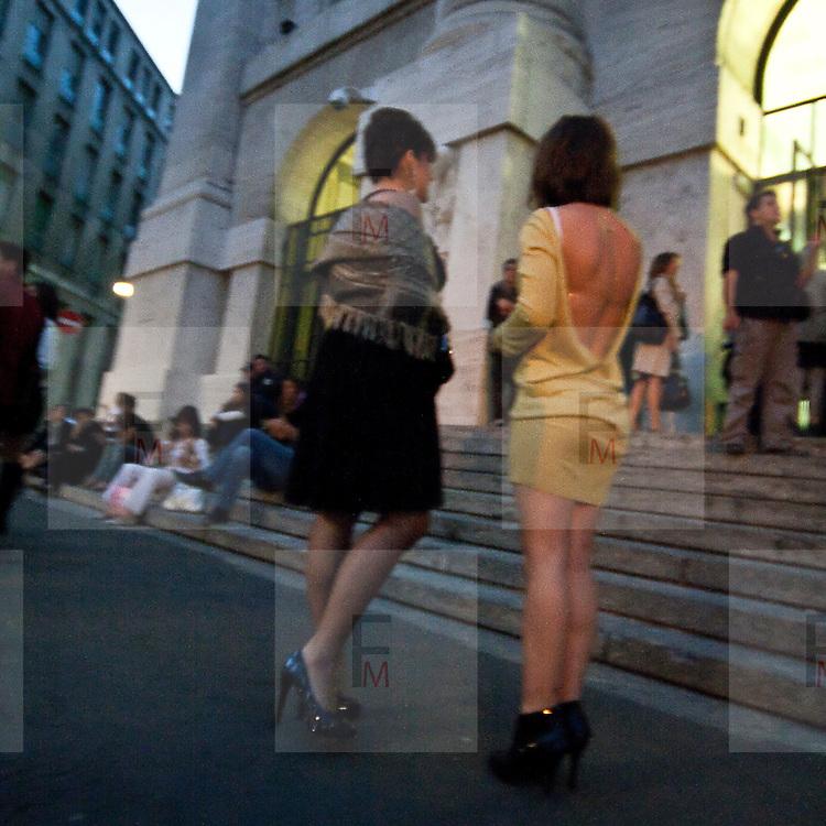 Secondo giorno della settimana della moda 2010 a Milano.<br /> Sfilata di Jo No Fui nel palazzo della borsa.<br /> <br /> Second day of the Milan fashion week.<br /> The fashion show of Jo No Fui in the Stock Exchange building.
