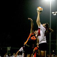 NUS, Monday, October 1, 2012 -- The National University of Singapore (NUS) retained their Singapore University Games (SUniG) netball title when they beat the Nanyang Technological University (NTU) 65-42. <br /> <br /> Story: http://redsports.sg/2012/10/03/sunig-netball-nus-ntu/