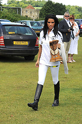 KATIE PRICE - model Jordan at a Pro-Celebrity Polo match in aid of the Mark Davies Injured Riders Fund Charity Day held at Cowdray Park, West Sussex on 22nd June 2008.<br />