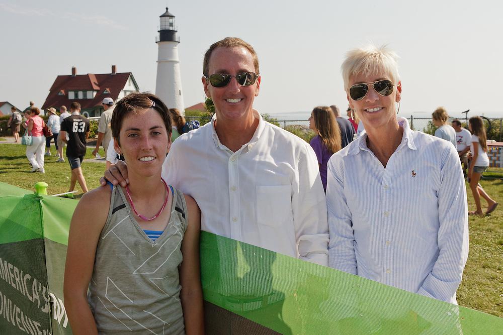 Beach to Beacon 10K , Abby Leonardi and parents