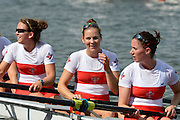 Trackai. LITHUANIA. CAN BW4-. Bow, Christine ROPER, Susanne GRAINGER, Cherly COPSON and Antje VON SEYDLITZ-KURZBACH Gold medalist in the women's four at the 2012 FISA U23 World Rowing Championships,  Lake Galve.  16:21:28  Saturday  14/07/2012 [Mandatory Credit: Peter Spurrier/Intersport Images]..Rowing. 2012. U23.