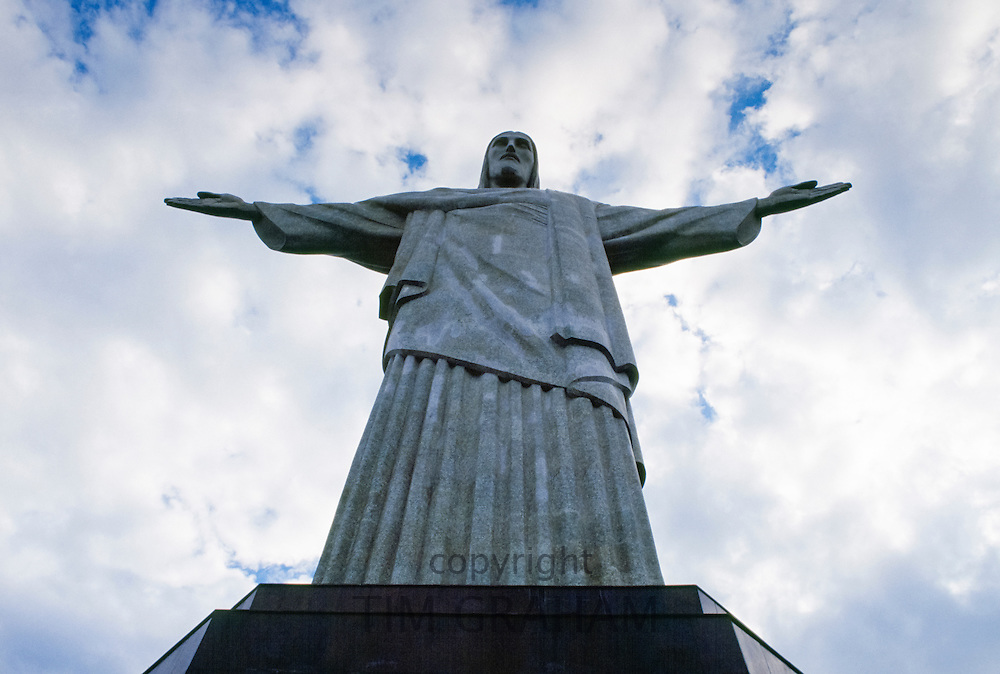 Christ the Redeemer statue of Jesus Christ in Rio de Janeiro, Brazil