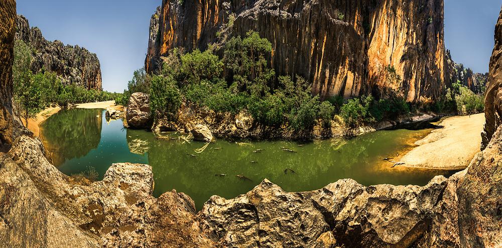 Windjana Gorge at Kimberley, Western Australia