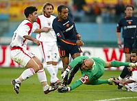 Roma 3/3/2004 Uefa Cup Third Round <br />Roma Gaziatenspor 2-0 (AS Roma qualified) <br />Emerson Ferreira porta in vantaggio la Roma<br />Emerson Ferreira scores 1-0 for AS Roma<br />Foto Andrea Staccioli Digitalsport