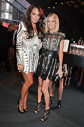 Left to right, TAMARA ECCLESTONE and CAROLINE HABIB at the inaugural Gabrielle's Gala in London in aid of Gabrielle's Angel Foundation for Cancer Research held at Battersea Power Station, London on 7th June 2012.