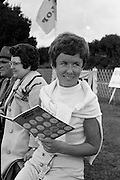 Miss Mary Martin enjoying the sunshine and clear skys at the Irish Dunlop £1,000 Tournament at Tramore Golf Club, Co. Waterford on the 19th August 1967.