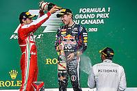 MOTORSPORT - F1 2013 - GRAND PRIX OF CANADA - MONTREAL (CAN) - 07 TO 09/06/2013 - PHOTO ERIC VARGIOLU / DPPI PODIUM - AMBIANCE<br /> VETTEL SEBASTIAN (GER) - RED BULL RENAULT RB9 - AMBIANCE PORTRAIT<br /> ALONSO FERNANDO (SPA) - FERRARI F138 - AMBIANCE PORTRAIT<br /> HAMILTON LEWIS (GBR) - MERCEDES GP MGP W04 - AMBIANCE PORTRAIT