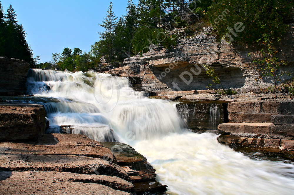 The waterfall at the Fourth Chute on the Bonnechere river, near Douglas and Eganville, in Northern Ontario...©2007, Sean Phillips.http://www.Sean-Phillips.com