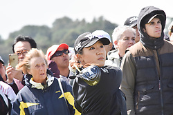October 1, 2017 - Auckland, Auckland, New Zealand - New Zealand's Lydia Ko tees off during final round of the MCKAYSON New Zealand Women's Open at Windross Farm in Auckland, New Zealand on Oct1, 2017. Featuring World Number One Lydia Ko,The MCKAYSON New Zealand Women's Open is the first ever LPGA Tour event to be played in New Zealand. (Credit Image: © Shirley Kwok/Pacific Press via ZUMA Wire)