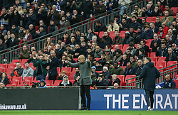 Manchester City manager Pep Guardiola directs his players - Mandatory by-line: Arron Gent/JMP - 06/04/2019 - FOOTBALL - Wembley Stadium - London, England - Manchester City v Brighton and Hove Albion - Emirates FA Cup Semi Final