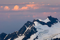 Clouds catching first light of sunrise, Coast Mountains British Columbia Canada beauty in nature