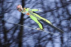 November 19, 2017 - Wisla, Poland - Stefan Kraft (AUT), competes in the individual competition during the FIS Ski Jumping World Cup on November 19, 2017 in Wisla, Poland. (Credit Image: © Foto Olimpik/NurPhoto via ZUMA Press)