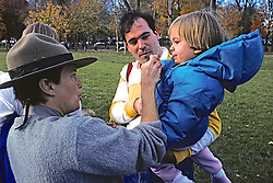 Park Service Woman Interacting With Child