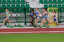 Sabina Veit, Merlene Ottey, Pia Tajnikar, Kristina Zumer during women 100m finals at Slovenian National Championships in athletics 2010, on July 17, 2010 in Velenje, Slovenia. (Photo by Vid Ponikvar / Sportida)