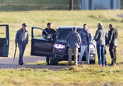 **2018 Pictures of the year by London News Pictures**<br /> © Licensed to London News Pictures. 20/12/2018. London, UK. Armed police are seen next to the runway at Gatwick airport as the hunt for a drone operator continues. Flights have been cancelled and thousands of passengers have been delayed after the airport closed due to two drones being spotted nearby. Photo credit: Peter Macdiarmid/LNP