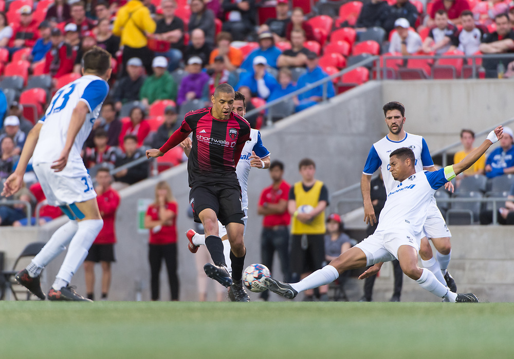OTTAWA, ON - JUN 27: Amway Canadian Championship match between the Ottawa Fury FC and AS Blainville at TD Place Stadium in Ottawa, ON. Canada on June 27, 2018.<br /> <br /> PHOTO: Steve Kingsman/Freestyle Photography/Ottawa Fury FC