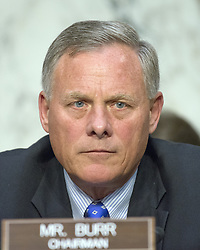 June 21, 2017 - Washington, District of Columbia, United States of America - United States Senator Richard Burr (Republican of North Carolina), Chairman, US Senate Select Committee on Intelligence listens to the witnesses opening statements during the hearing on the Russian intervention in the 2016 Presidential election on Capitol Hill in Washington, DC on Wednesday, June 21, 2017..Credit: Ron Sachs / CNP (Credit Image: © Ron Sachs/CNP via ZUMA Wire)