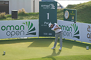 Lars Van Meijel (NED) on the 1st during Round 4 of the Oman Open 2020 at the Al Mouj Golf Club, Muscat, Oman . 01/03/2020<br /> Picture: Golffile   Thos Caffrey<br /> <br /> <br /> All photo usage must carry mandatory copyright credit (© Golffile   Thos Caffrey)