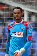 Brentford Goalkeeper David Button looks on. Skybet football league championship match, Bolton Wanderers v Brentford at the Macron stadium in Bolton, Lancs on Saturday 25th October 2014.<br /> pic by Chris Stading, Andrew Orchard sports photography.