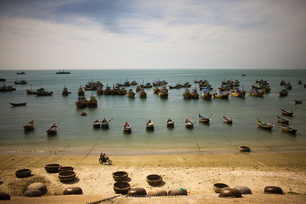 Mui Ne, Vietnam is a fishing village and resort town located on an arm of the South China Sea. The town is a popular tourist destination for windsurfing.