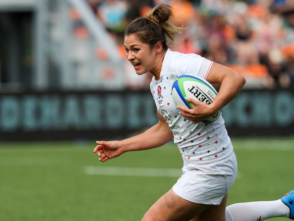 Amy Wilson-Hardy in action for England, Women's Sevens World Series - Amsterdam Leg, NRCA, Amsterdam, Netherlands, Day 1 on 22nd May 2015.