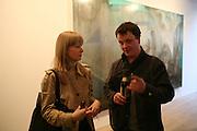 DARIA KIRSANOVA AND TIM STONER, Nigel Cook: New Accursed Art Club. Stuart Shave/Modern art. New Gallery at Eastcastle St. Oxford Circus. London. 24 April 2008.  *** Local Caption *** -DO NOT ARCHIVE-© Copyright Photograph by Dafydd Jones. 248 Clapham Rd. London SW9 0PZ. Tel 0207 820 0771. www.dafjones.com.