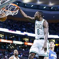 01 February 2013: Boston Celtics power forward Jeff Green (8) dunks the ball during the Boston Celtics 97-84 victory over the Orlando Magic at the TD Garden, Boston, Massachusetts, USA.