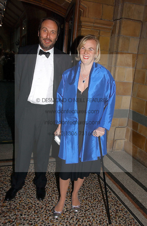 The HON.DAVID MACMILLAN and COUNTESS MANFREDIE DELLA GHERARDESCA at a gala dinner in the presence of HM Quenn Silvia of Sweden and HM Queen Noor of Jordan in aid of the charity Mentor held at the Natural History Museum, Cromwell Road, London on 23rd May 2006.<br />