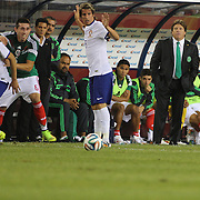 Mexican Manager Miguel Herrera, during the Portugal V Mexico International Friendly match in preparation for the 2014 FIFA World Cup in Brazil. Gillette Stadium, Boston (Foxborough), Massachusetts, USA. 6th June 2014. Photo Tim Clayton