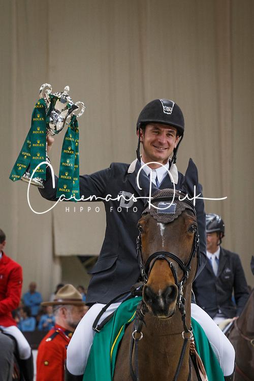 Guerdat Steve (SUI) - Nino des Buissonnets<br /> Winner of the Grand Prix Rolex<br /> CHI Geneve 2013<br /> © Dirk Caremans