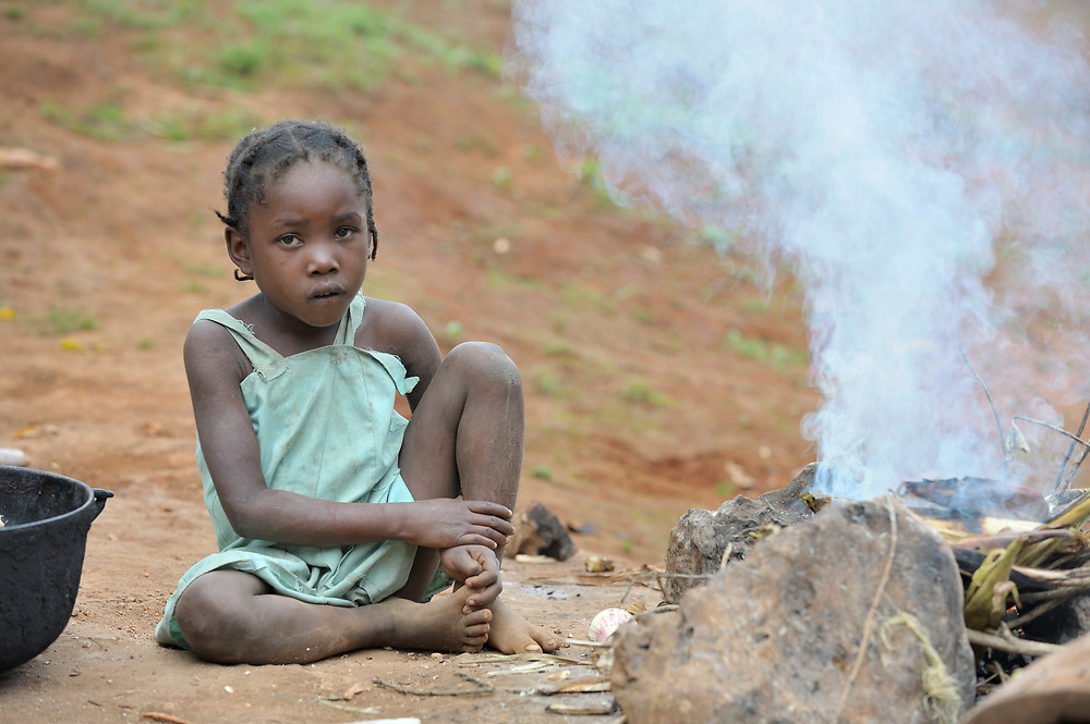 A child in the Haitian village of Foret des Pins.