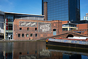 Waterways at Gas Street Basin in the city centre virtually deserted under Coronavirus lockdown on 20th May 2020 in Birmingham, England, United Kingdom. Coronavirus or Covid-19 is a new respiratory illness that has not previously been seen in humans. While much or Europe has been placed into lockdown, the UK government has put in place more stringent rules as part of their long term strategy, and in particular social distancing.