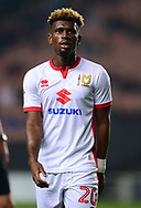Aaron Tshibola of MK Dons looks on .EFL Skybet football league one match, MK Dons v Northampton Town at the Stadium MK in Milton Keynes on Tuesday 26th September 2017.<br /> pic by Bradley Collyer, Andrew Orchard sports photography.
