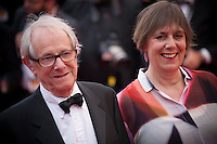 Director Ken Loach, producer Rebecca O'Brien at the Closing Palm D'Or Awards Ceremony at the 69th Cannes Film Festival, Sunday 22nd May 2016, Cannes, France. Photography: Doreen Kennedy