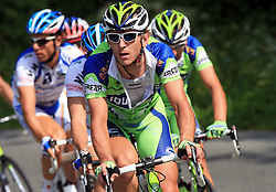 Maciej Bodnar of Poland (Liquigas) was the leader of peloton during 1st stage of the 15th Tour de Slovenie from Ljubljana to Postojna (161 km) , on June 11,2008, Slovenia. (Photo by Vid Ponikvar / Sportal Images)/ Sportida)