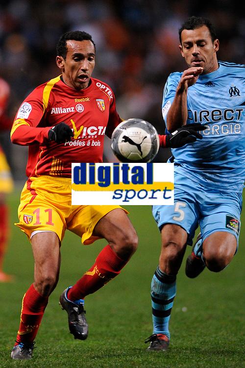 FOOTBALL - FRENCH CHAMPIONSHIP 2009/2010  - L1 - RC LENS v OLYMPIQUE MARSEILLE - 28/11/2009 - PHOTO JULIEN CROSNIER / DPPI -EDUARDO (LEN)