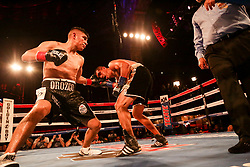 March 18, 2018 - Los Angeles, California, United States - Golden Boy Promotion's LA Fight Club took place in the historic Belasco Theatre in Downtown Los Angeles. It was a great night for boxing fans as each contender fought with blood, sweat, and tears pushing themselves to the ultimate limit. (Credit Image: © Alexander G. Seyum/Pacific Press via ZUMA Wire)