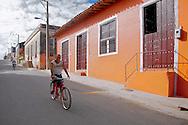 Bicycling in Gibara, Holguin, Cuba.