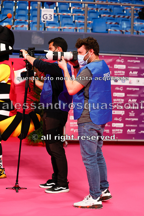 Photographers at work at the Pesaro World Cup 2021. at work at the Pesaro World Cup 2021.