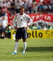 Photo: Chris Ratcliffe.<br /> England v Paraguay. Group B, FIFA World Cup 2006. 10/06/2006.<br /> David Beckham of England.