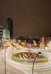 Furnival Square, Sheffield at night