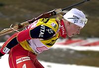Skiskyting, 12. desember 2003, Linda Tjoerhom (NOR) (NOR)  Norge Biathlon Norwegen<br /> Weltcup Hochfilzen