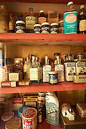 Inside of the Village chemist at  Ryedale Folk Museum, Hutton Le Hole, North Yorks Moors National Park, Yorkshire, England .<br /> <br /> Visit our ENGLAND PHOTO COLLECTIONS for more photos to download or buy as wall art prints https://funkystock.photoshelter.com/gallery-collection/Pictures-Images-of-England-Photos-of-English-Historic-Landmark-Sites/C0000SnAAiGINuEQ