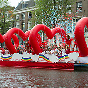 NLD/Amsterdam//20170805 - Gay Pride 2017, Boot Vodafone