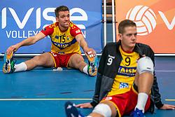 Sjoerd Hoogendoorn #15 of Dynamo in action in the supercup semifinal between Draisma Dynamo – Active Living Orion on October, 03 2020 in Van der Knaaphal, Ede